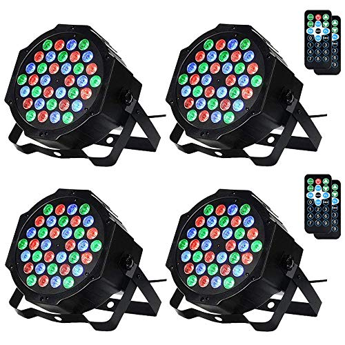 LUNSY 36LED Stage Lights, RGB DJ Par Can Party Lighting