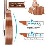 Concert Ukulele Ranch 23 inch Professional Wooden ukelele Instrument Kit With Free Online 12 Lessons Small Hawaiian Guitar ukalalee Pack Bundle Gig bag & Digital Tuner & Strap & 4 Aquila Strings Set 2