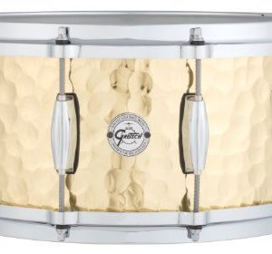 "Gretsch Drums Full Range Series S1-6514-BRH 6.5x14"" Hammered Brass Snare Drum"