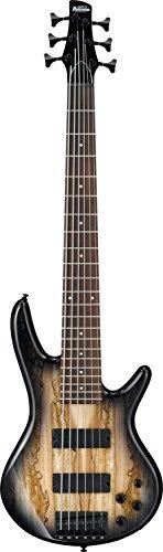 Ibanez 6 String Bass Guitar, Right, Natural Gray Burst