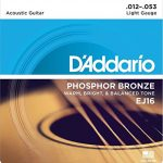 D'Addario EJ16 Phosphor Bronze Acoustic Guitar Strings, Light (25 Pack) – Corrosion-Resistant Phosphor Bronze, Offers a Warm, Bright and Well-Balanced Acoustic Tone and Comfortable Playability 2