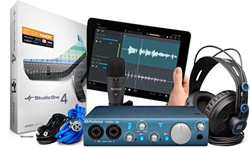 Presonus AudioBox iTwo USB 2.0 Recording Bundle with Interface, Headphones