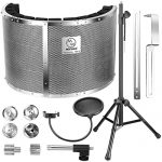Neewer Professional Microphone Studio Recording Accessories Include: NW-6 Microphone Isolation Panel, Wind Screen Bracket Stand and Pop Filter for Vocal Acoustic Recording and Podcasting 1