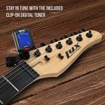 LyxPro 39 inch Electric Guitar Kit Bundle with 20w Amplifier, All Accessories, Digital Clip On Tuner, Six Strings, Two Picks, Tremolo Bar, Shoulder Strap, Case Bag Starter kit Pack Full Size 2