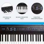 Alesis Recital | 88 Key Beginner Digital Piano / Keyboard with Full Size Semi Weighted Keys, Power Supply, Built In Speakers and 5 Premium Voices (Amazon Exclusive) 1