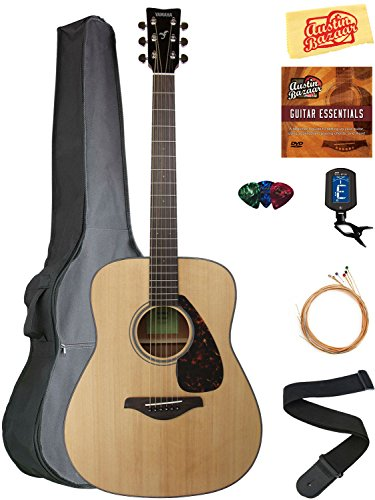 Yamaha Solid Top Folk Acoustic Guitar - Natural Bundle