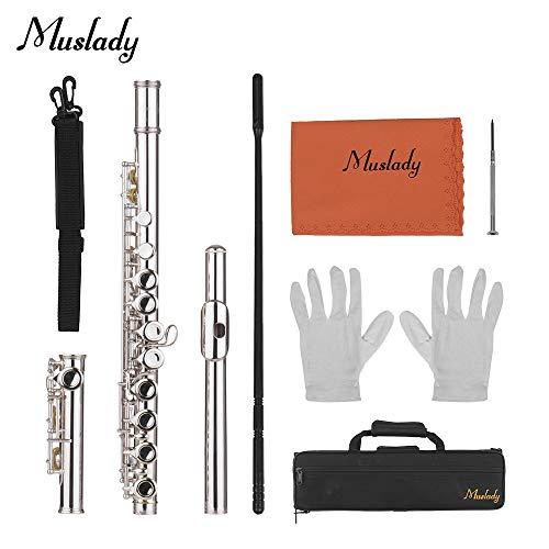 Muslady C Key Flute 16 Holes Closed Hole Cupronickel Woodwind Instrument