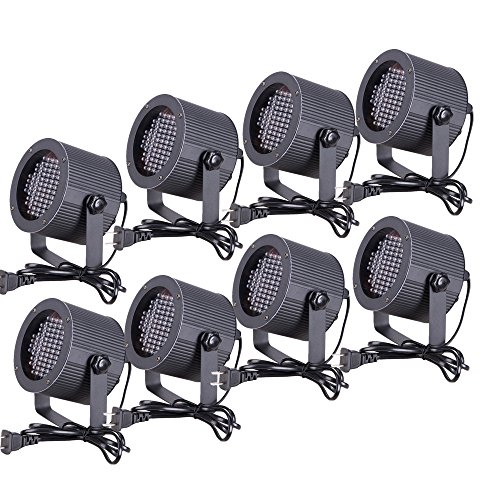 CO-Z 8pcs DMX Controlled LED Stage Lights