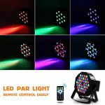 DJ Lights Missyee 36 X 1W RGB LEDs DJ LED Uplighting Package Sound Activated Stage Par Lights with Remote Control Compatible with DMX, 9 Modes LED Up Lights for Wedding Event Party Festival (8 Pack) 1