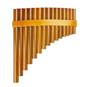 15 Pipes Brown Pan Flute G Key Chinese Traditional Musical Instrument