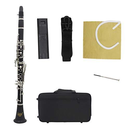 Huhudde New bakelite ABS 17 Key Clarinet bB Flat Soprano Binocular Clarinet