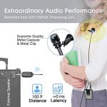 Wireless Headset Lavalier Microphone System -Alvoxcon Dual Wireless Lapel Mic for iPhone, DSLR Camera, PA Speaker, YouTube, Podcast, Video Recording, Conference, Vlogging, Church, Interview, Teaching 2