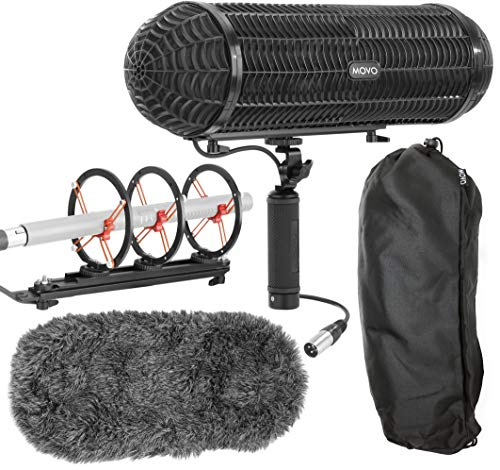 Movo Blimp Microphone Windshield Mount and Vibration Protection System