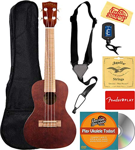 Kala MK-C Makala Concert Ukulele Bundle with Gig Bag
