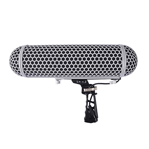 Micolive Microphone Windshield Blimp Windscreen Style Protect Cage