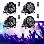 U`King Stage Lights 36 LED Par Lights Indoor for Party Wedding With Remote and DMX Control Sound Activated RGB Party Lights (4 Pack) 3