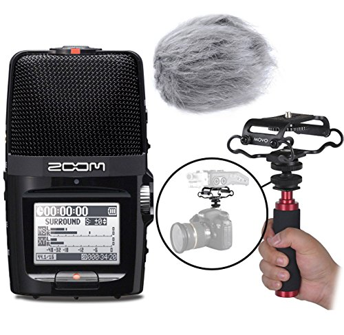 Zoom H2n Handy Portable Digital Audio Recorder Kit with Deadcat Windscreen