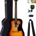 Fender Dreadnought Acoustic Guitar - Sunburst Bundle