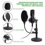 USB Microphone Kit 192KHZ/24BIT with Aluminum Organizer Storage Case MAONO AU-A04TC PC Condenser Podcast Streaming Cardioid Mic Plug & Play for Computer, YouTube, Gaming Recording 3