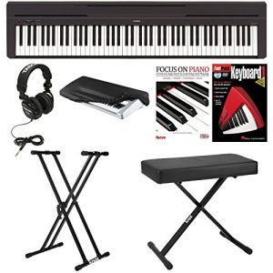 Yamaha Digital Piano with Knox Bench,Knox Double X Stand