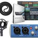 Presonus AudioBox 96 Audio USB 2.0 Recording Interface and Studio One Artist Software kit with Condenser Microphone with Shockmount, Wind Screen, and XLR Cable