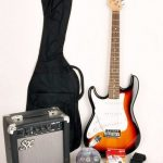 Left Handed 3/4 Size Beginner Electric Guitar Package Sunburst