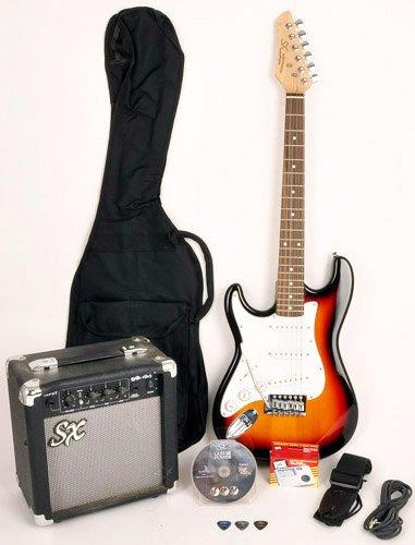 Left Handed 3/4 Size Beginner Electric Guitar Package Sunburst