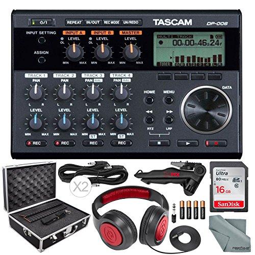 Tascam 6-Track Digital Pocketstudio and Deluxe Accessory Bundle