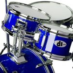 ddrum D1 Junior Complete Drum Set with Cymbals, Police Blue 3