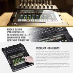 Mackie DL1608 iPad-Controlled 16-Channel Digital Live Sound Mixer Bundled with Xpix Handheld Microphone, Mic Pop Filter, Cables, and Fibertique Cloth 1