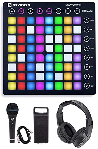 Novation LAUNCHPAD USB RGB Controller Pad+Mic+Cable+Headphones Bundle