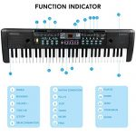 61 Keys Keyboard Piano, Electronic Digital Piano with Built-In Speaker, Microphone, Sheet Stand and Power Supply, Portable Keyboard Gift Teaching Toy for Beginners (Kids & Adults) 2