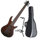 Ibanez GSR206BWNF 6-String Electric Bass Walnut Flat Finish w/ Gig Bag and Stand