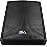 Seismic Audio – SA-15MT-PW – Powered 2-Way 15″ Floor / Stage Monitor Wedge Style with Titanium Horn – 350 Watts RMS – PA/DJ Stage, Studio, Live Sound Active 15 Inch Monitor 2