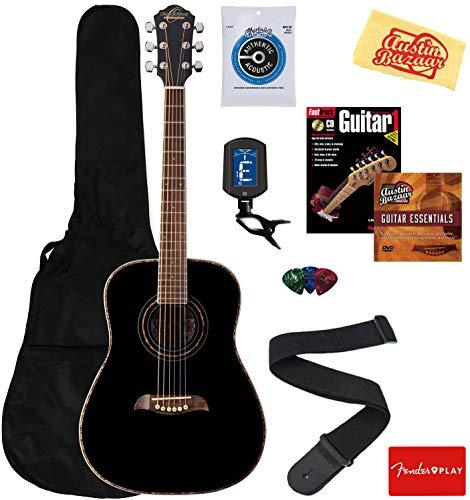 Oscar Schmidt 3/4-Size Kids Learn-to-Play Acoustic Guitar Bundle