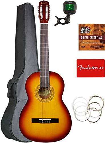 Fender Squier Classical Acoustic Guitar - Sunburst Bundle