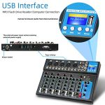 Depusheng 7 Channel USB Digital Karaoke Mixer Bluetooth Live Studio Audio Mixing Console Microphone Sound Card for DJ Wedding Party KTV 1