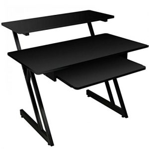 On-Stage Series Wood Studio Workstation, Black