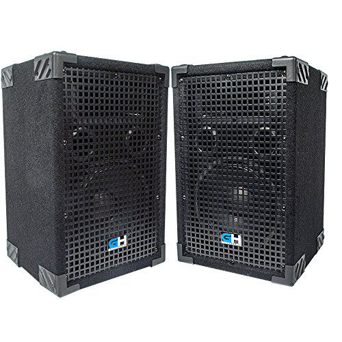 Grindhouse Speakers - Pair of Passive 8 Inch 2-Way PA/DJ Loudspeaker Cabinet