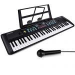 61 Keys Keyboard Piano, Electronic Digital Piano with Built-In Speaker