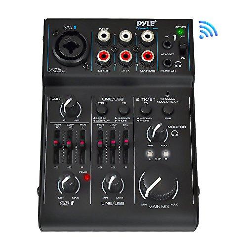 3 Channel Bluetooth Audio Mixer - DJ Sound Controller Interface