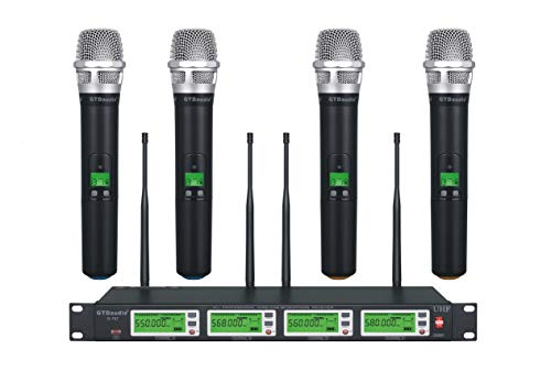 GTD Audio 4x800 Selectable Frequency Channel UHF Diversity Wireless