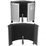 Neewer NW-5 Foldable Adjustable Portable Sound Absorbing Vocal Recording Panel, Aluminum Acoustic Isolation Microphone Shield with High-Density Foam, Non-slip Feet for Stand Mount or Desktop Use 1