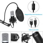 USB Podcast Condenser Microphone 192kHZ/24bit, UHURU Professional PC Streaming Cardioid Microphone Kit with Boom Arm, Shock Mount, Pop Filter and Windscreen, for Broadcasting, Recording, YouTube 3