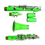 Clarinet,Soprano,17 Key bB Flat,ABS Binocular Clarinet with Cleaning Cloth Gloves 10 Reeds Screwdriver Reed Case Woodwind Instrument (Green) 2