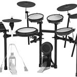 Roland TD-17KVX Electronic Drum Set Bundle with Drum Throne, 3 Pairs of Sticks, Audio Cable, and Austin Bazaar Polishing Cloth 2