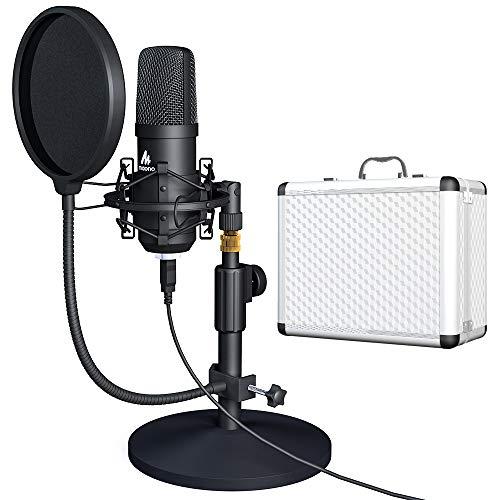 USB Microphone Kit with Aluminum Organizer Storage Case