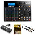Akai Professional MPD226 MIDI USB Pad Drum Beat Controller + 4 Port USB Hub + MIDI Cable & Pack of CableTies