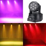 XPC DMX-512 Stage Lighting Mini Moving Head Light 4 In 1 RGBW LED PAR Light Lighting Strobe Professional 9/14 Channels 100W AC 100-240V Sound Active for KTV Club Bar Party Disco DJ Show Bands (2PCS) 1