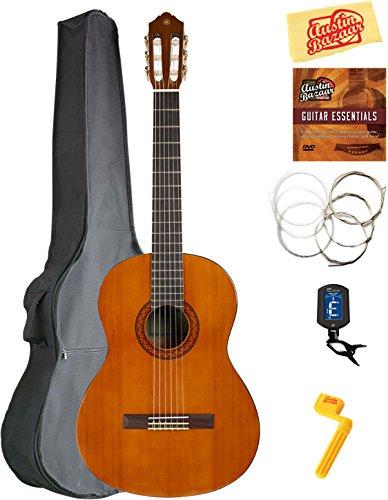Yamaha Classical Guitar Bundle with Gig Bag, Tuner